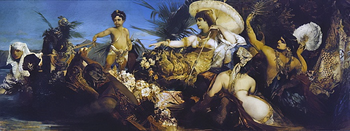 Hans Makart - Cleopatra on Nile circa 1875 - (MeisterDrucke-286527)
