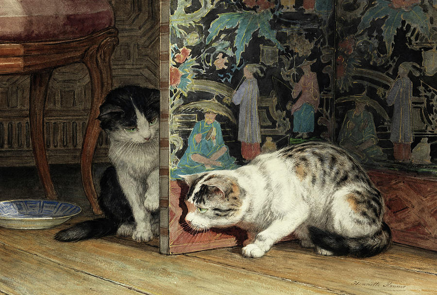 """""""Playing Cats."""" 19th c."""