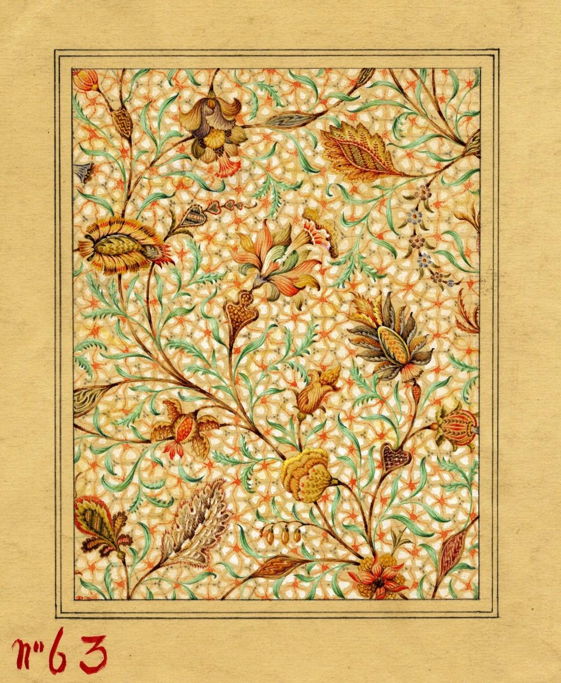 Design sketch. Number 63. 1870-1920.