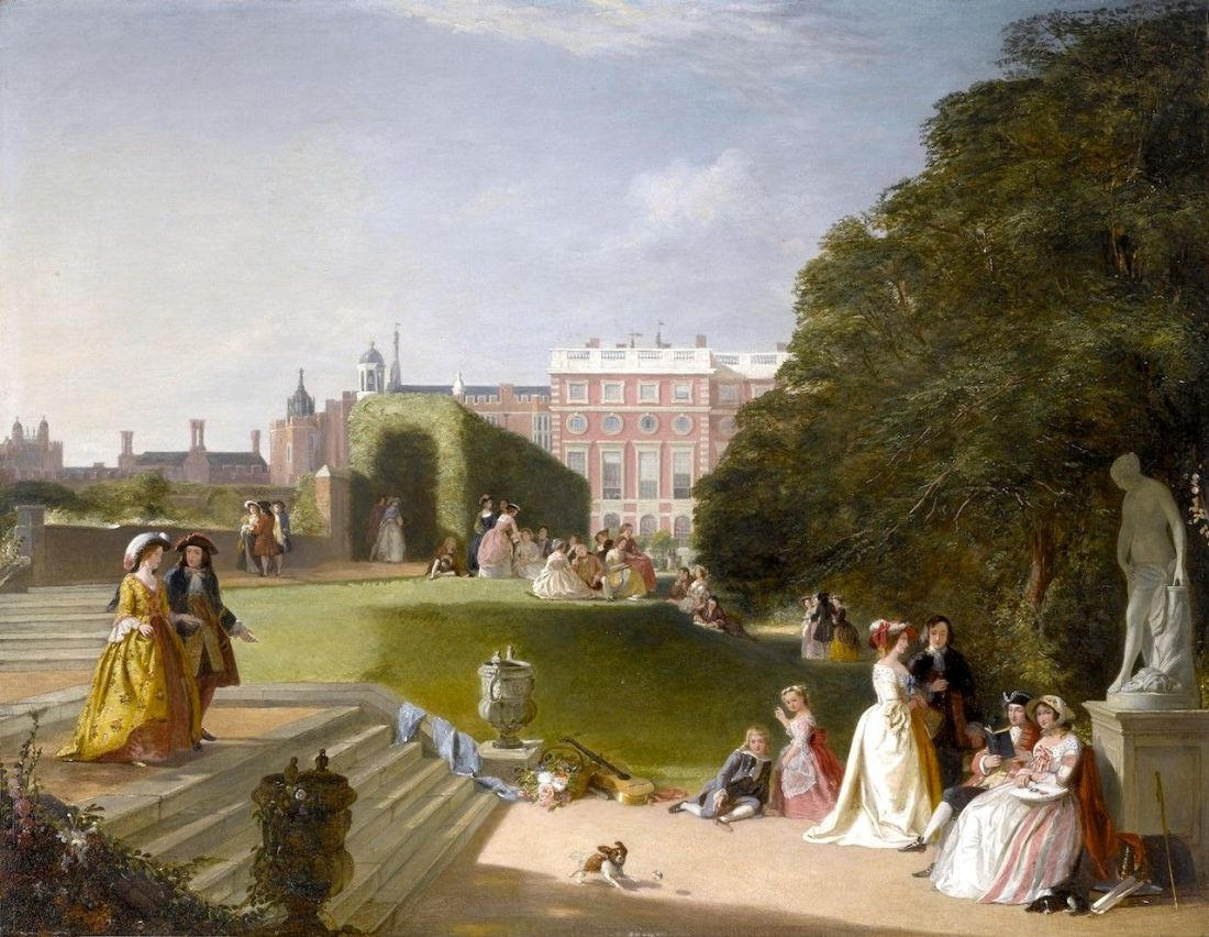 The-Palace-Gardens-Hampton-Court-James-Digman-Wingfield-Oil-Painting