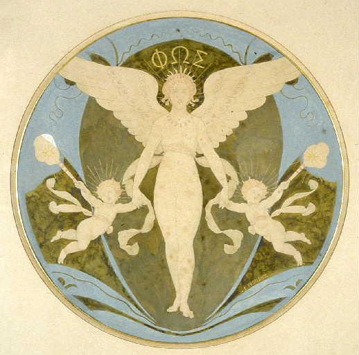 """""""La lumière et la nuit."""" ca. 1853."""