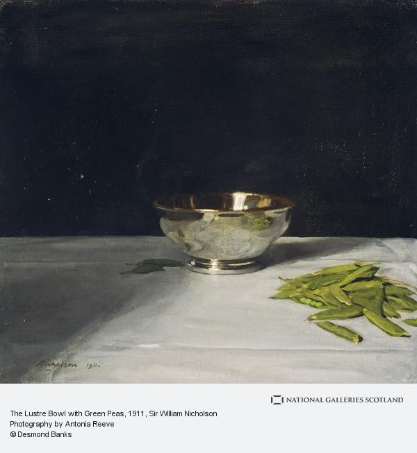 """""""The Lustre Bowl with Green Peas."""" 1911. Oil on canvas."""