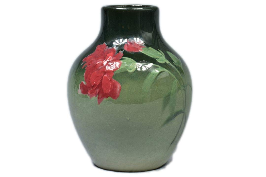 "Bottle vase with red carnation in the ""Eocean"" pattern. 1898-1915."