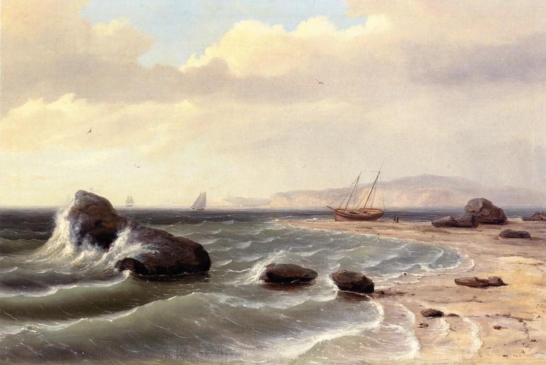 'An_American_Shore_Scene'_by_Thomas_Birch,_1827