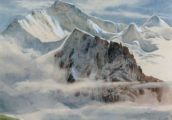 """""""View of the Jungfrau."""" No exact date."""