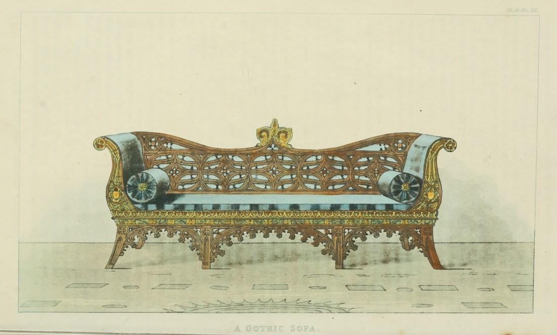 Gothic sofa. Plate 29. 1826.