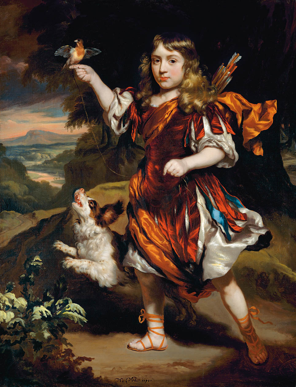 """""""Portrait of a Boy as a Hunter."""" 1671. Private collection."""