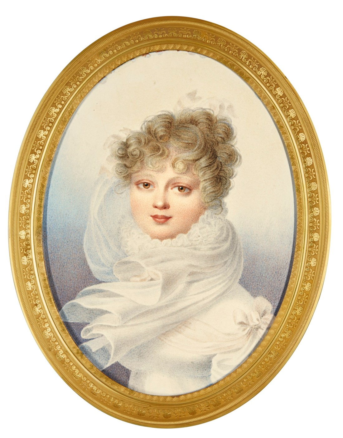Miniature of Grand Duchess Ekaterina Pavlovna, daughter of Tsar Paul I. Later Queen of Württemberg (1788-1819). ca. 1821.