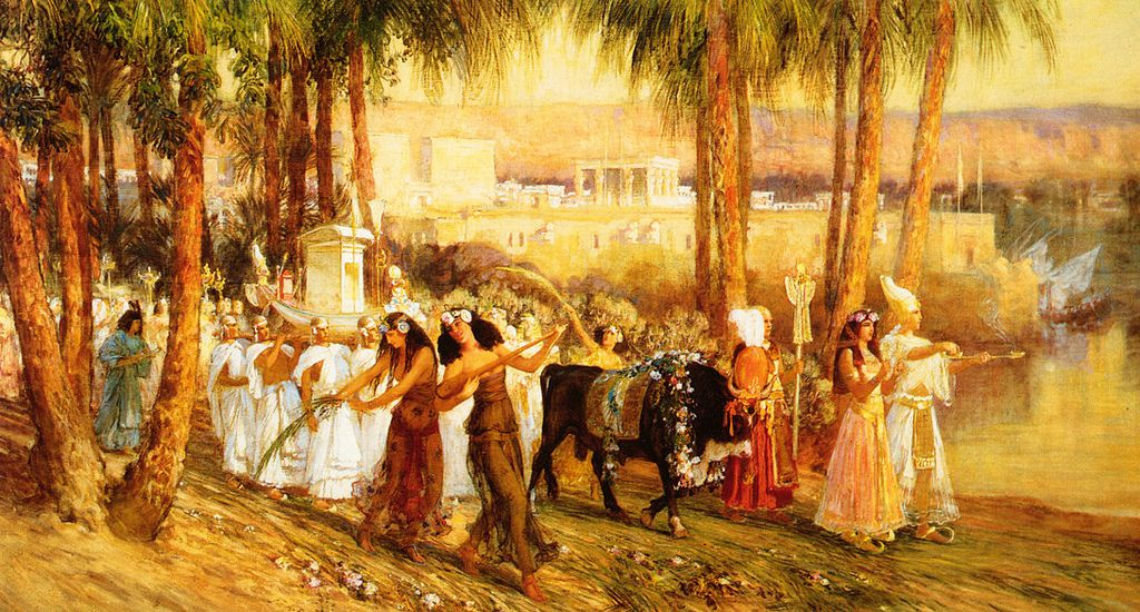 """Procession in Honor of Isis."" 1902. Oil on canvas."