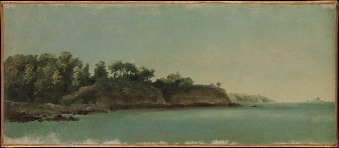 """""""The Banks of the Rance, Brittany."""" Possibly painted in 1785."""