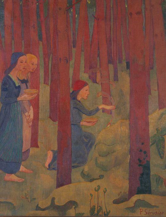 """L'Incantation ou Le Bois sacré."""" 1891."""