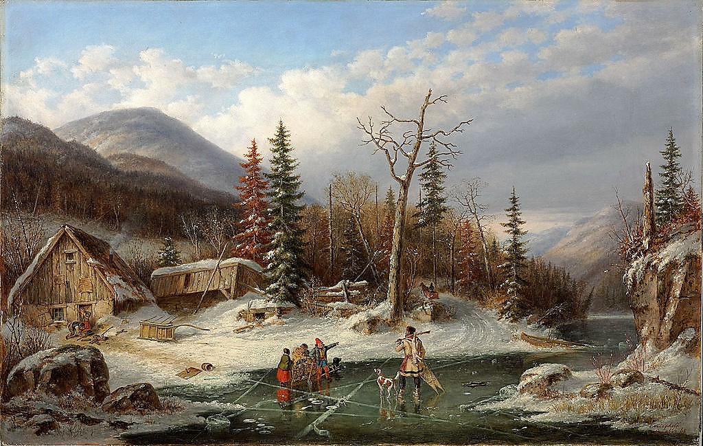 """Winter Landscape, Laval."" 1862."