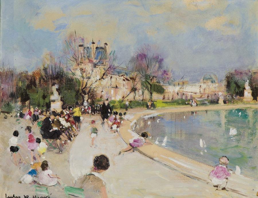 """""""Le Jardin de Tuileries."""" No date."""