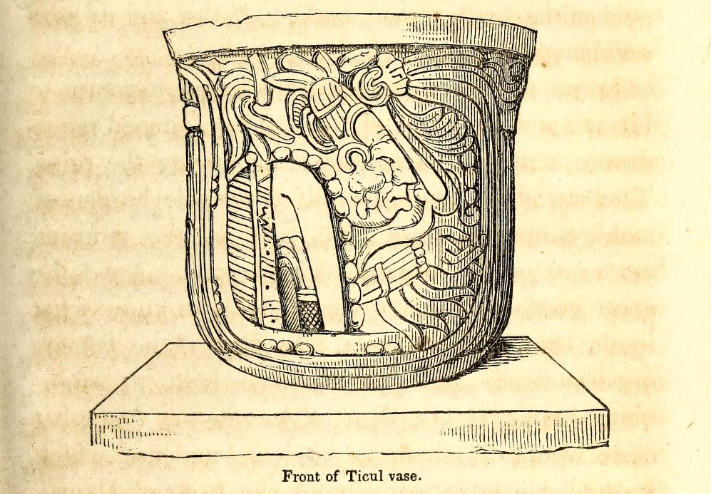 """""""Front of Ticul vase"""" (detail). Page 275."""