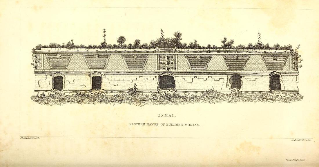 """Eastern Range of building Monjas, Uxmal."" Page 338."