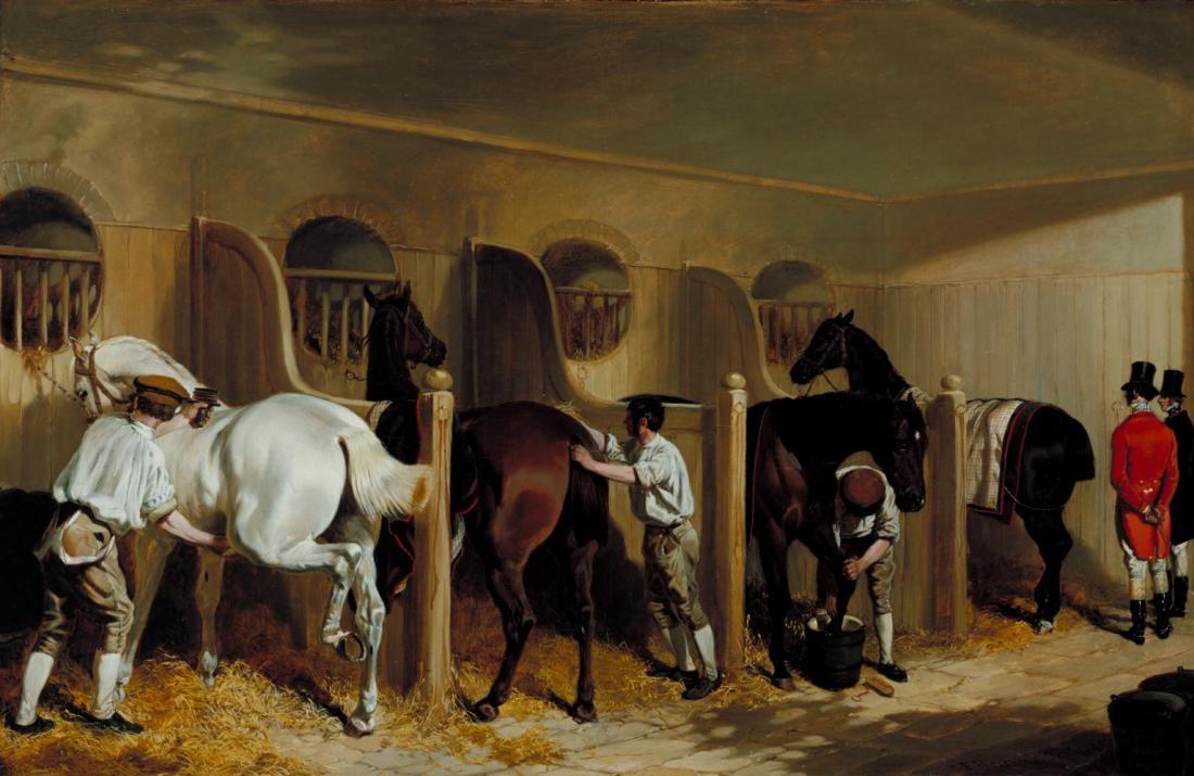 The Hunting Stud 1845 by John Frederick Herring 1795-1865