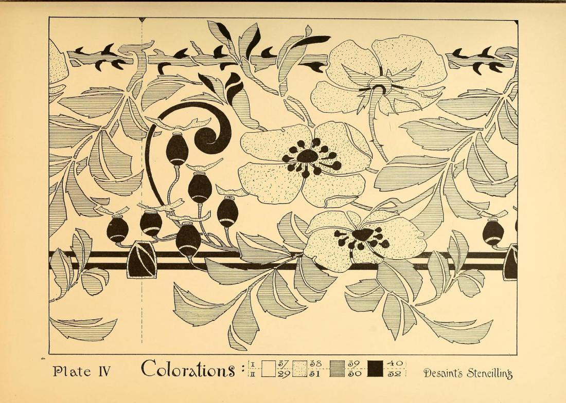 """""""Colorations."""" Plate IV, page 40."""