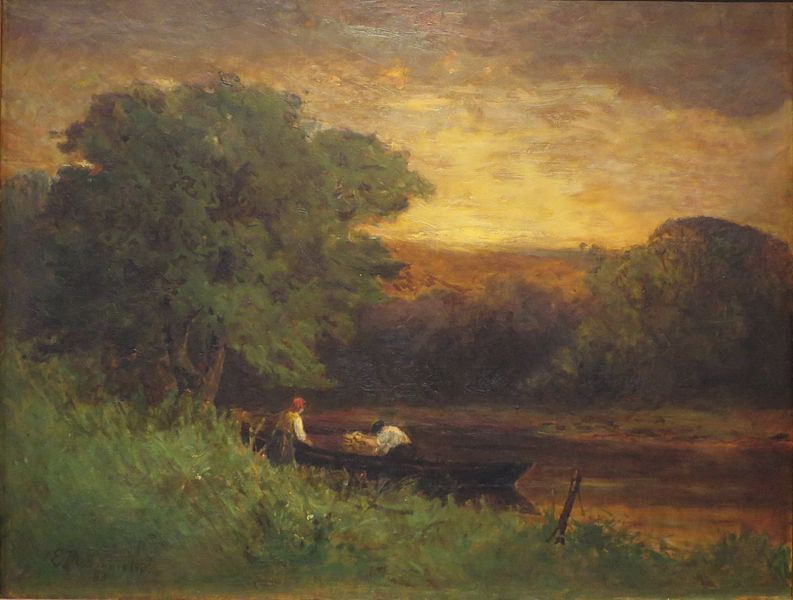 'River_Scene'_by_Edward_Mitchell_Bannister,_1883,_oil_on_canvas,_Honolulu_Museum_of_Art
