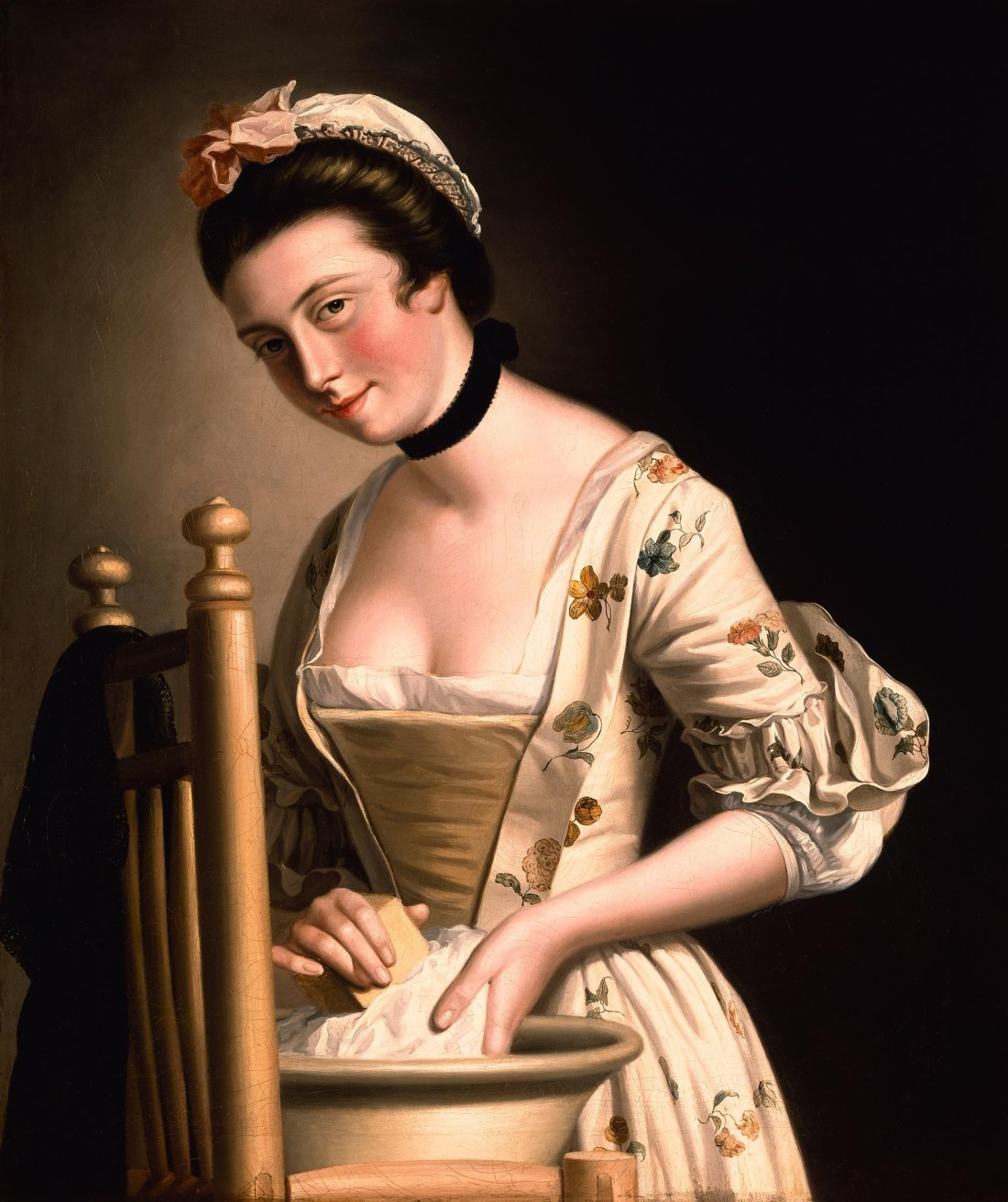 A_Woman_doing_Laundry_by_Henry_Robert_Morland