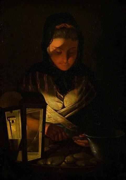 Morland, Henry Robert, c.1716-1797; The Oyster Seller