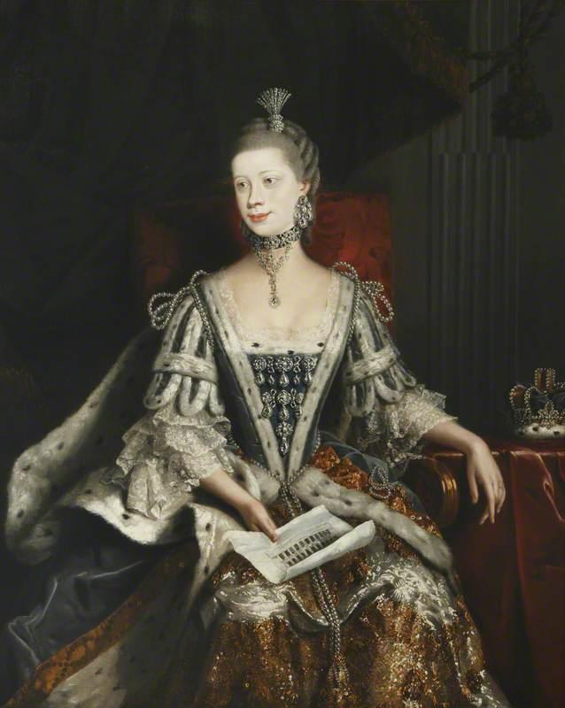 Morland, Henry Robert, c.1716-1797; Charlotte Sophia (1744-1818), Queen Consort of George III