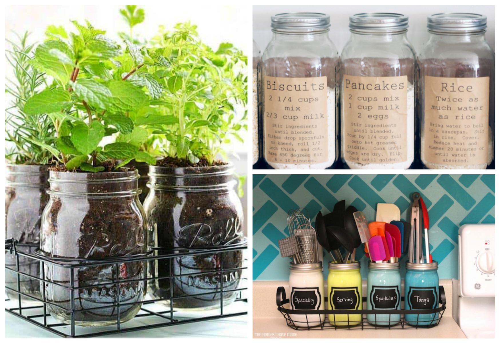 15 Creative Mason Jar Kitchen Storage Ideas Sarah Blooms