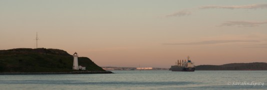 Georges Island and Tanker PanoWM
