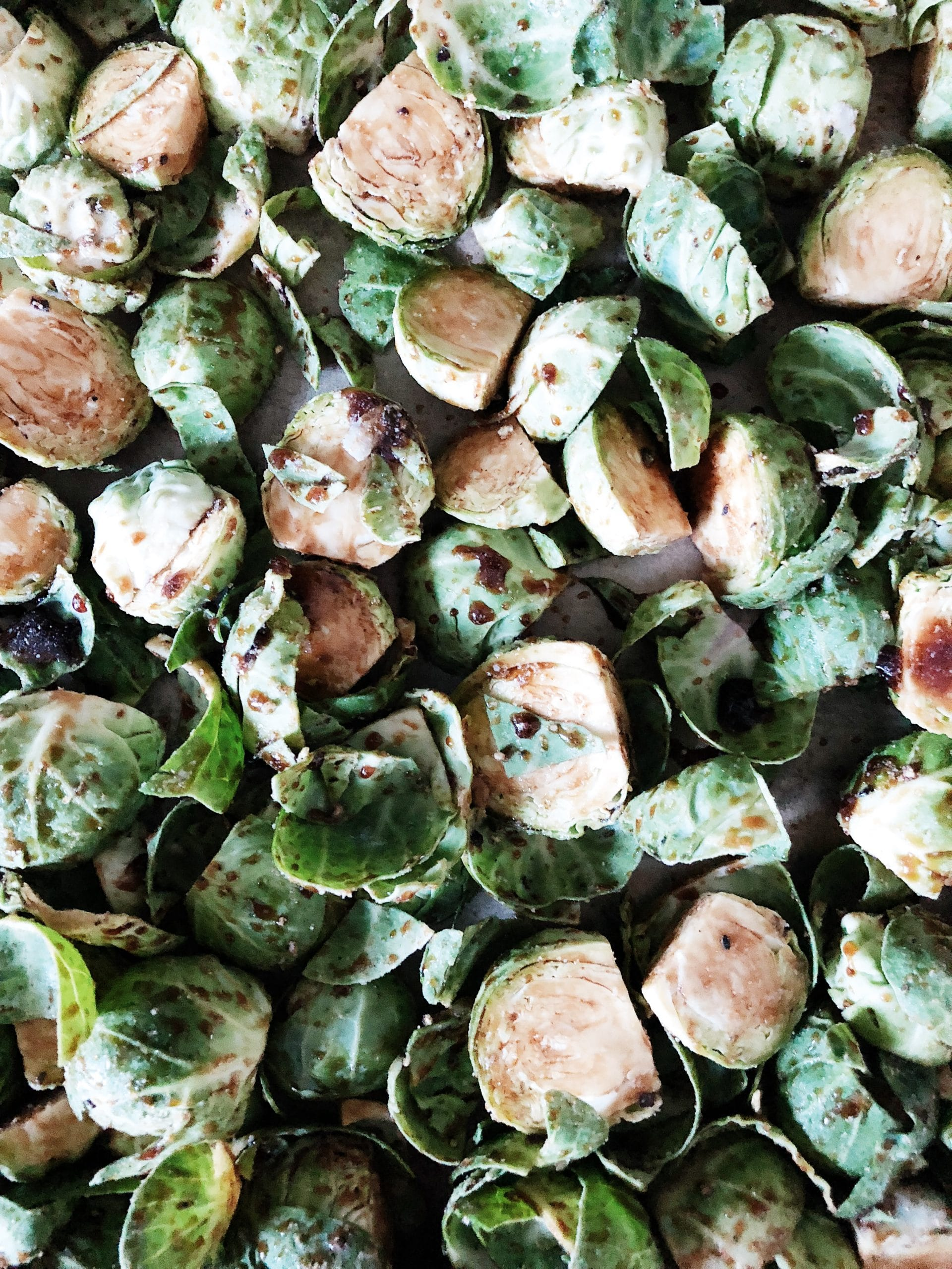 Image of maple balsamic brussels sprouts