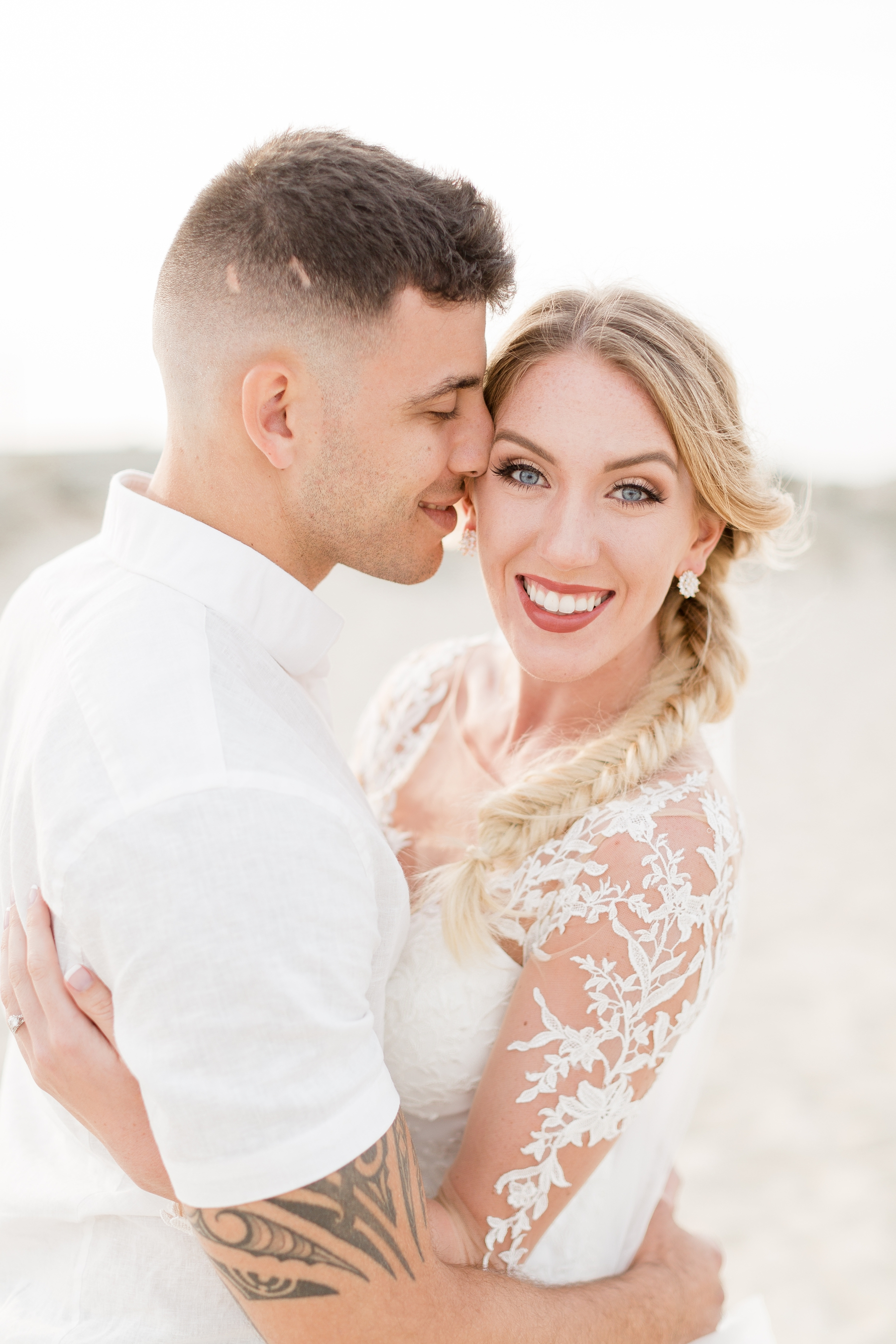 Beachfront Wedding Portraits