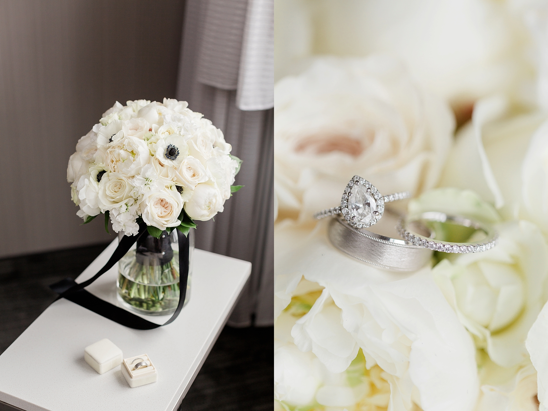All white bridal bouquet by The William Penn Inn Flower Shop   William Penn Inn Wedding