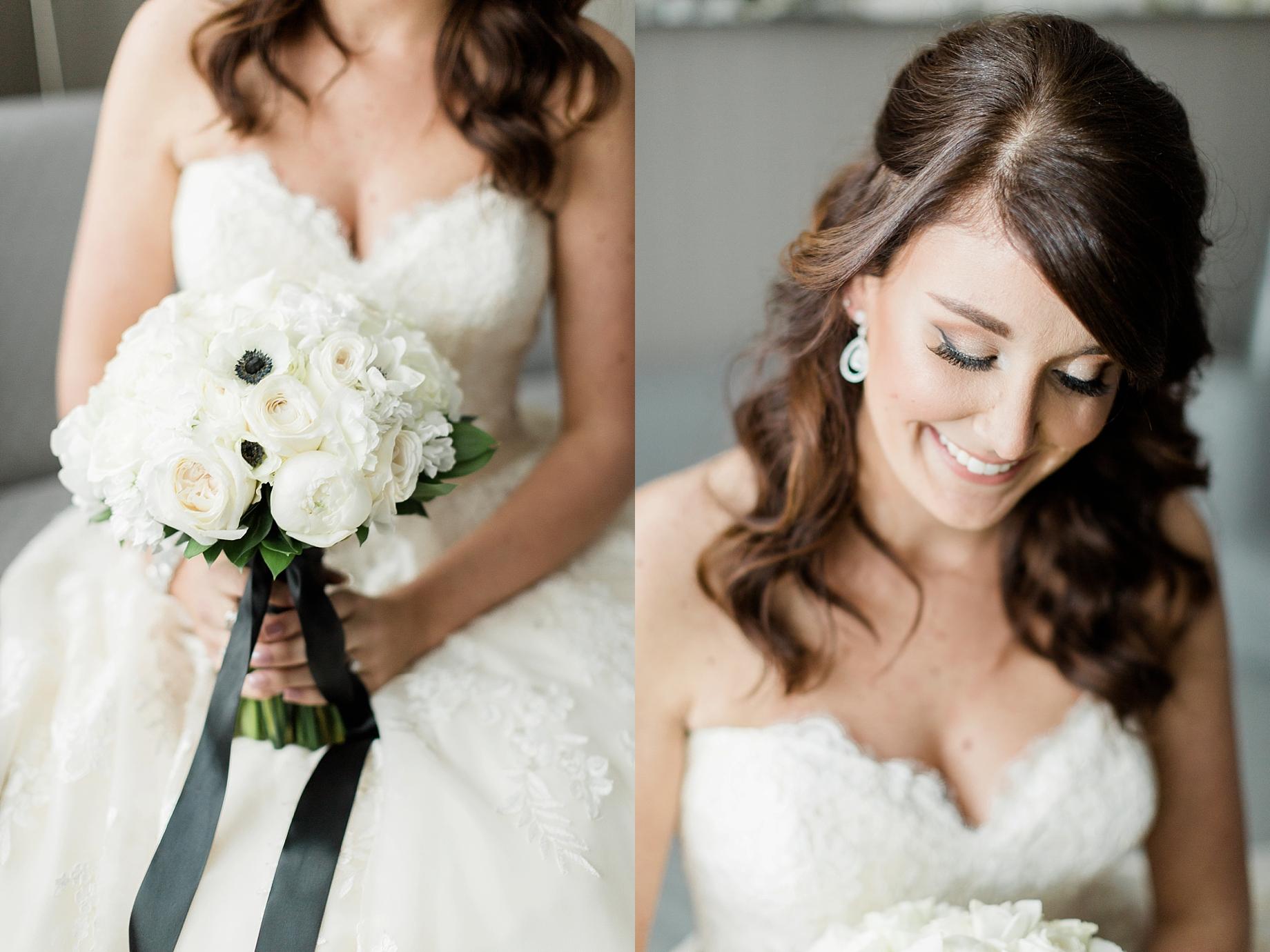 All white bridal bouquet by The William Penn Inn   William Penn Inn Wedding