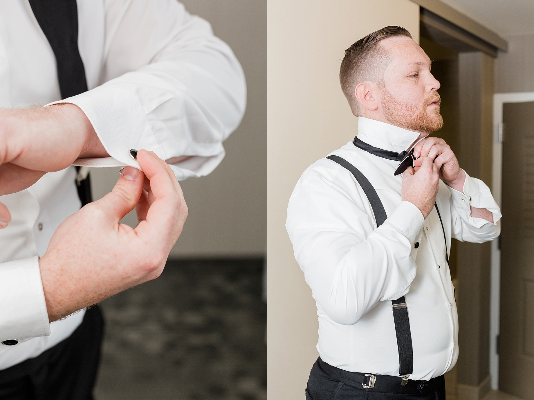 groom getting ready | William Penn Inn Wedding