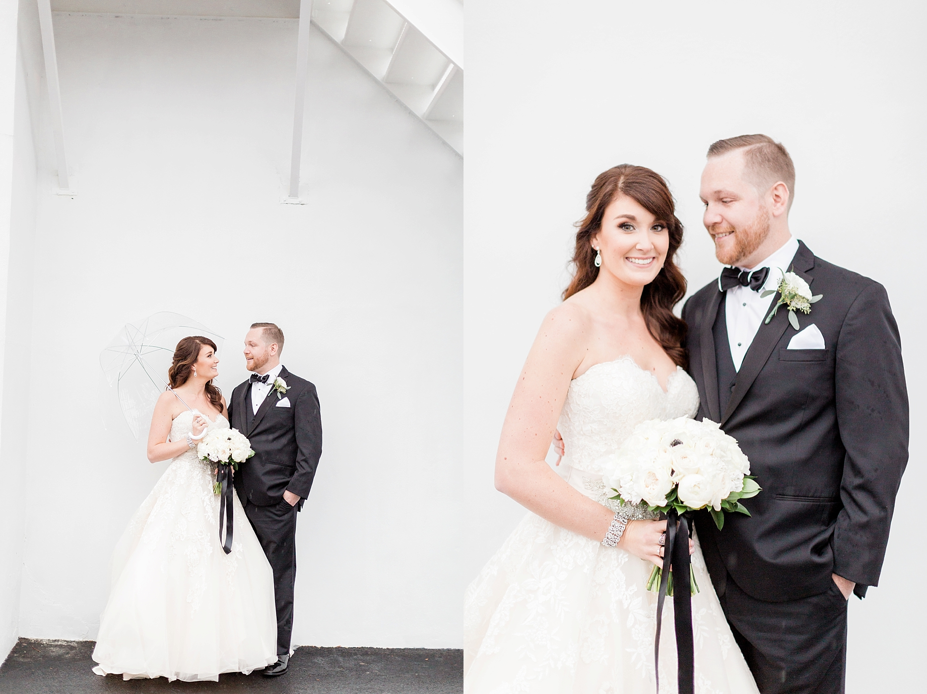 Wedding portraits in the rain | William Penn Inn Wedding
