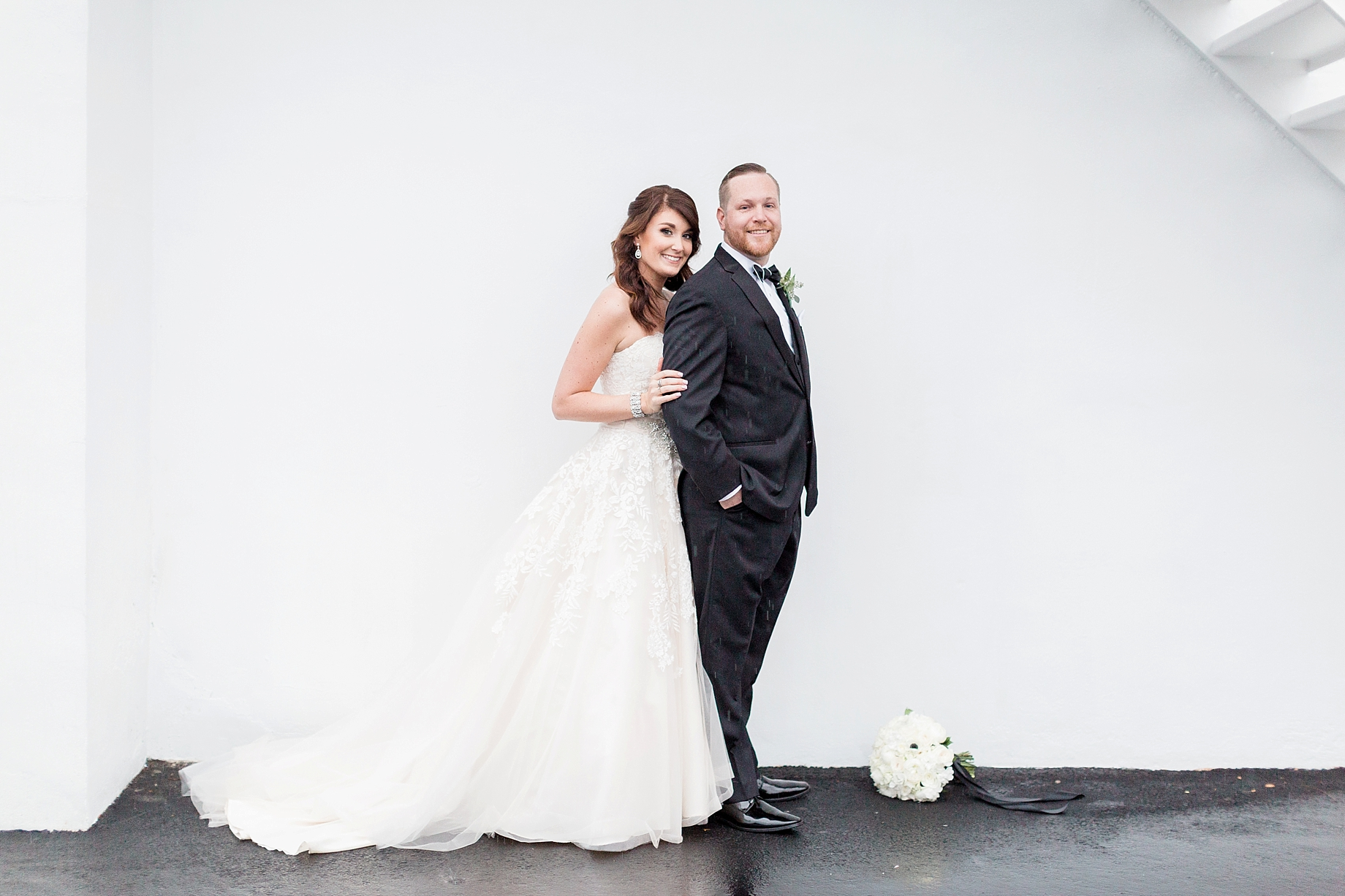 bride and groom portrait at the william penn inn