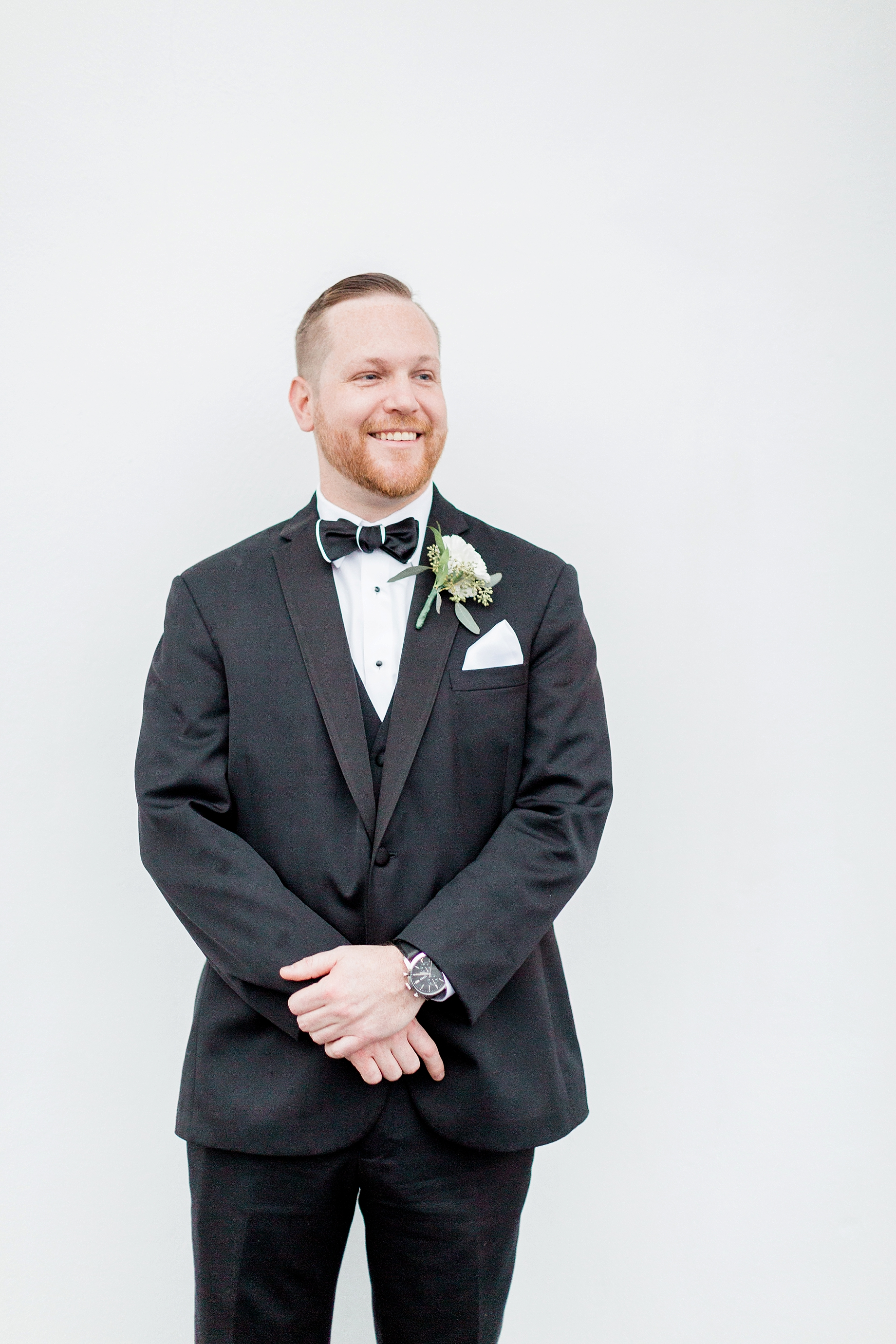 Black tuck with black bow tie | William Penn Inn Wedding