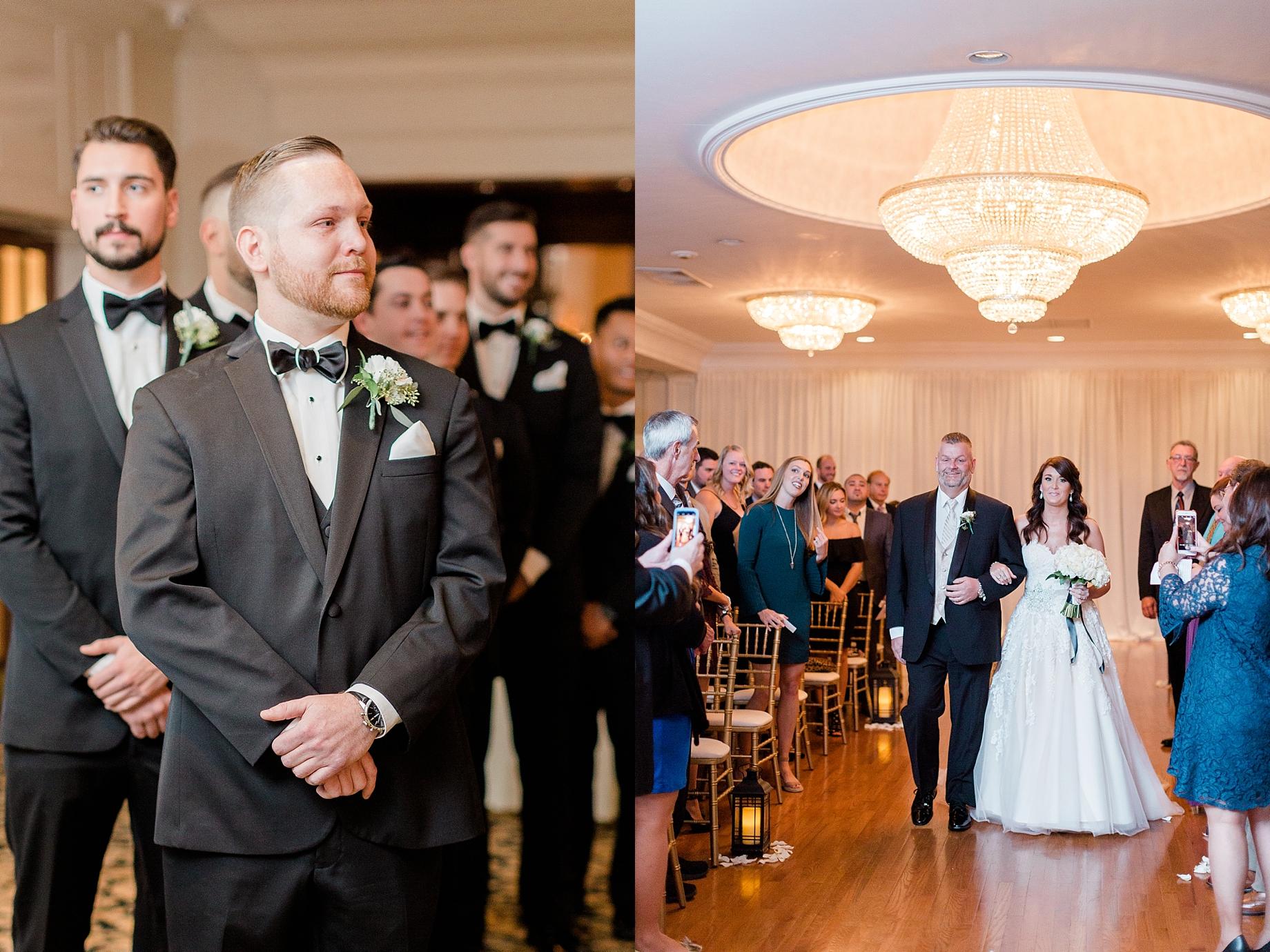 bride walking down the aisle   William Penn Inn Wedding