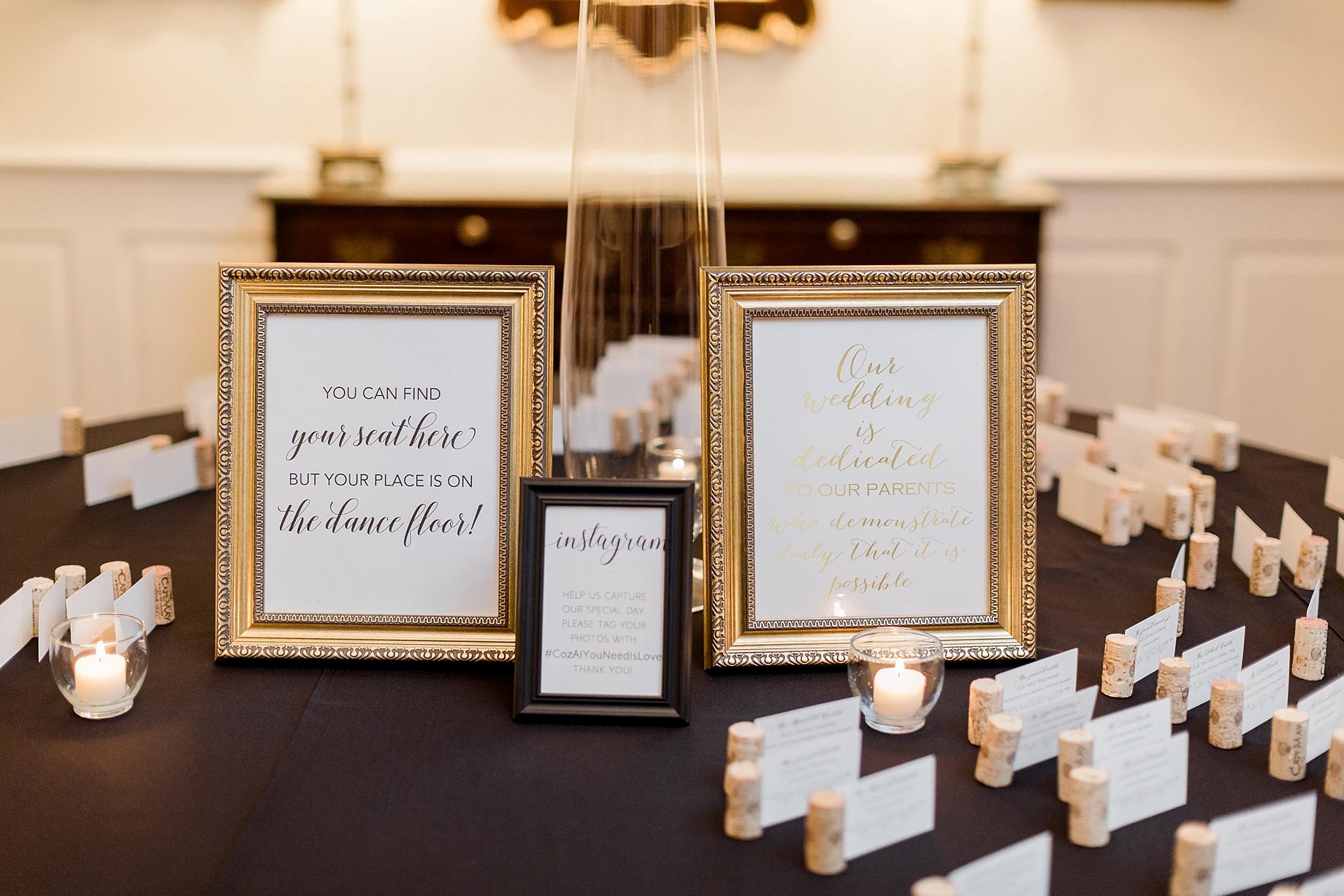 William Penn Inn Wedding Welcome Table