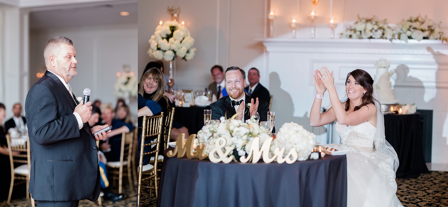 wedding reception at the william penn inn