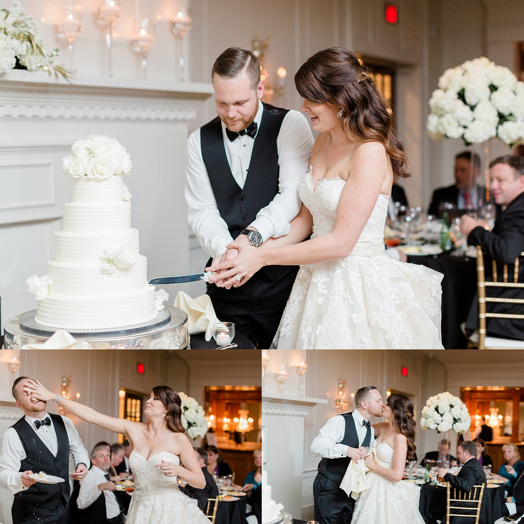 cutting the cake | William Penn Inn Wedding
