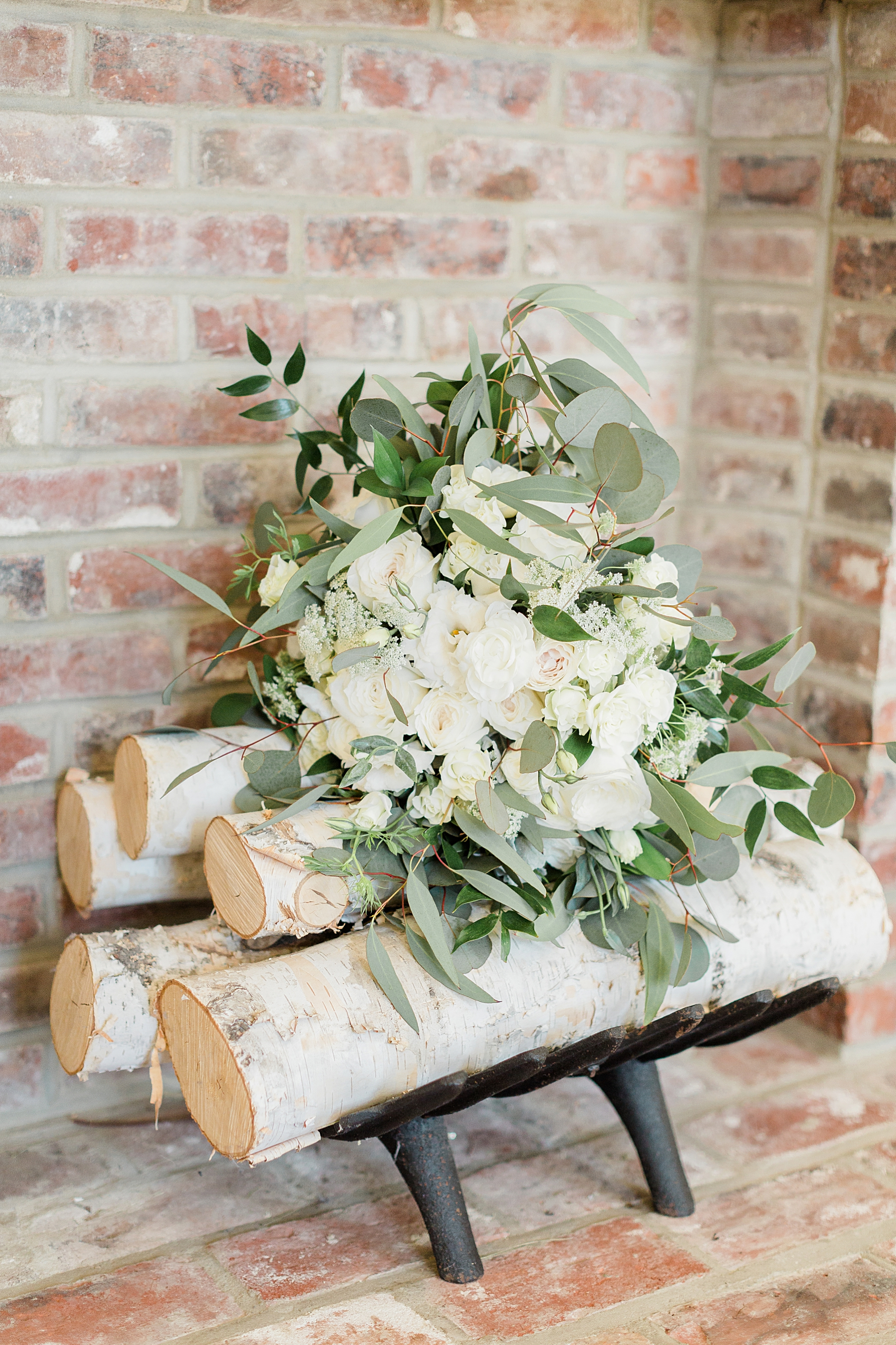 Elegant Winter Wedding at French Creek Golf Club bouquet by blue moon florist