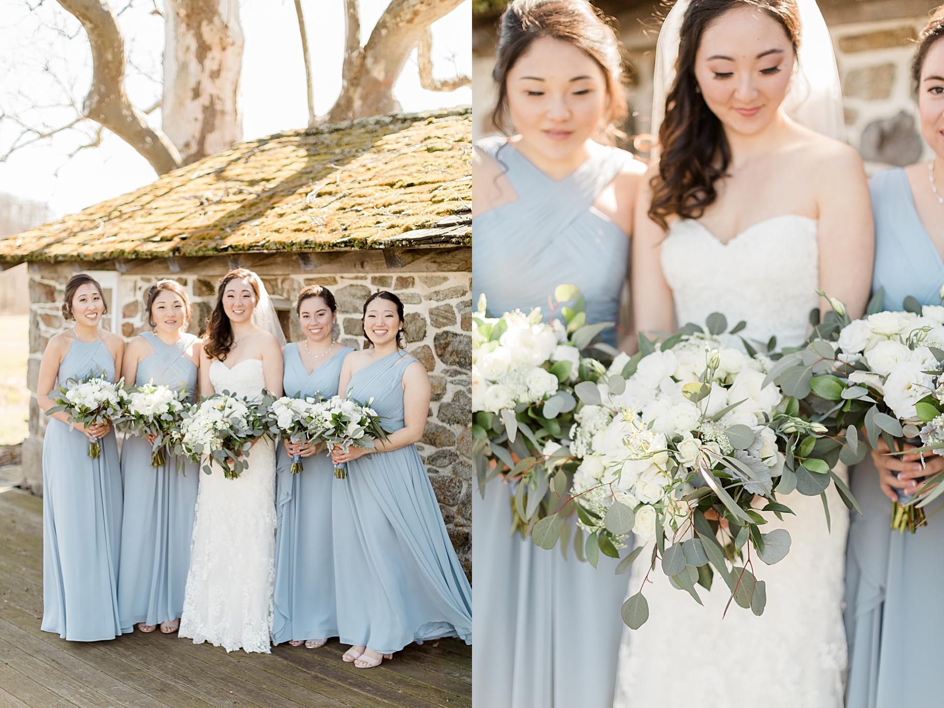 Elegant Winter Wedding at French Creek Golf Club | Bridesmaid Dresses from Azazie