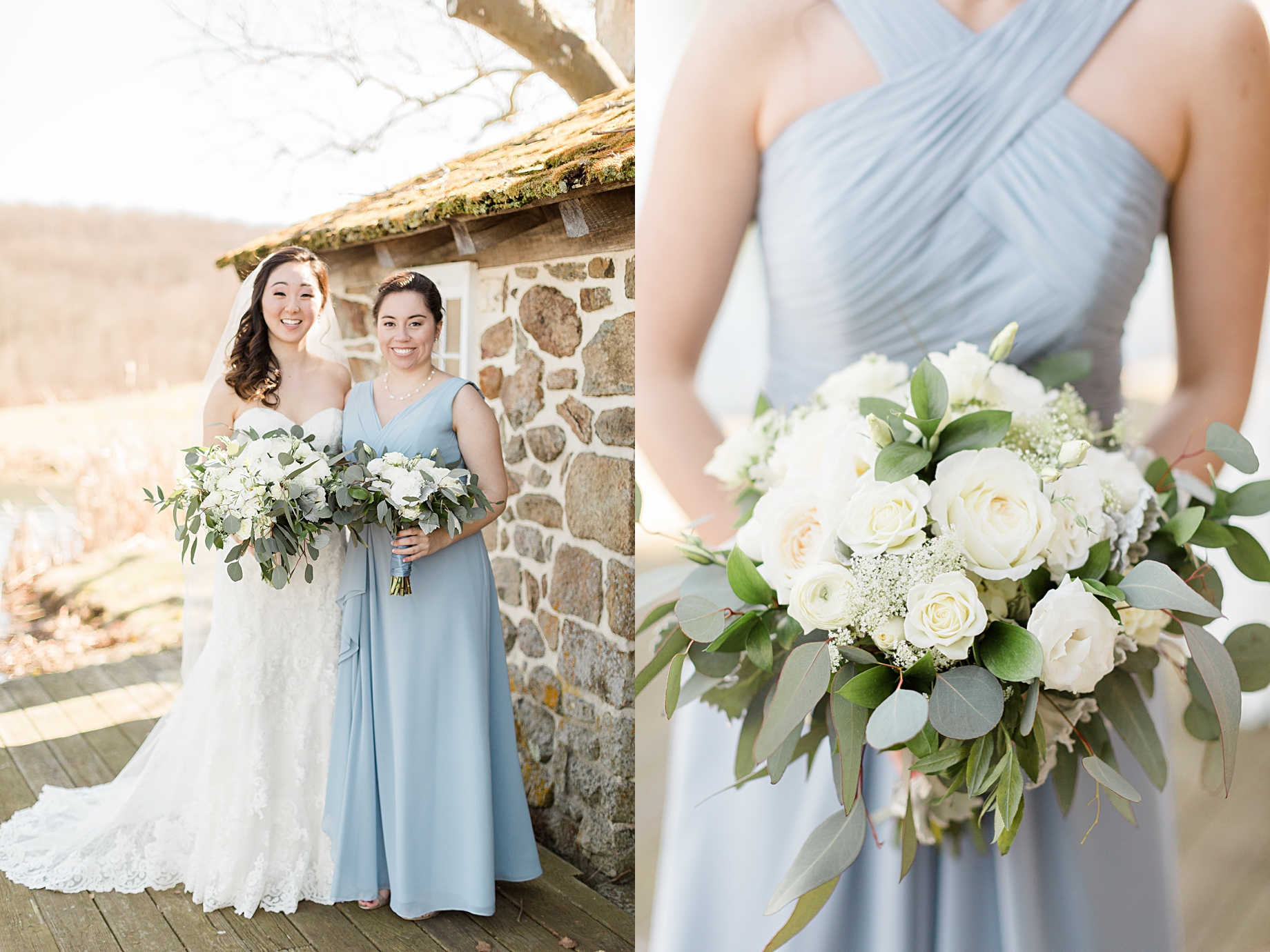 Elegant Winter Wedding at French Creek Golf Club | Flowers by Blue Moon Florist