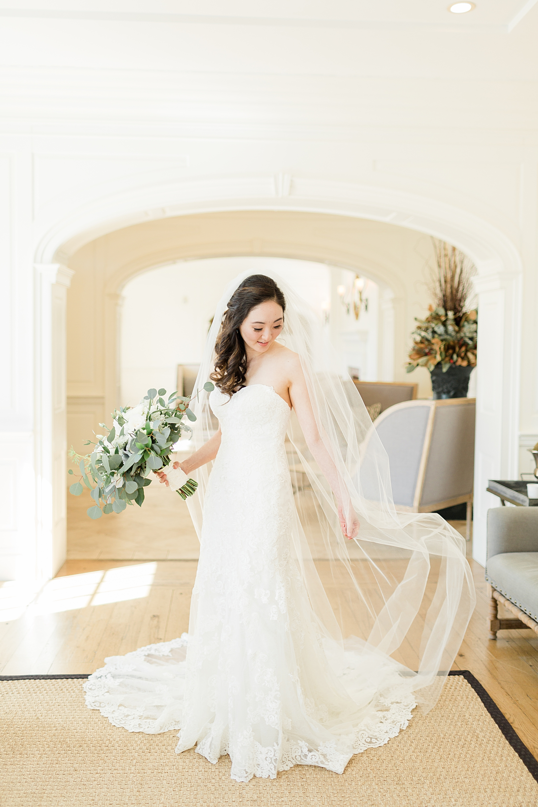 french creek golf club wedding bridal portrait | gown by essence of australia