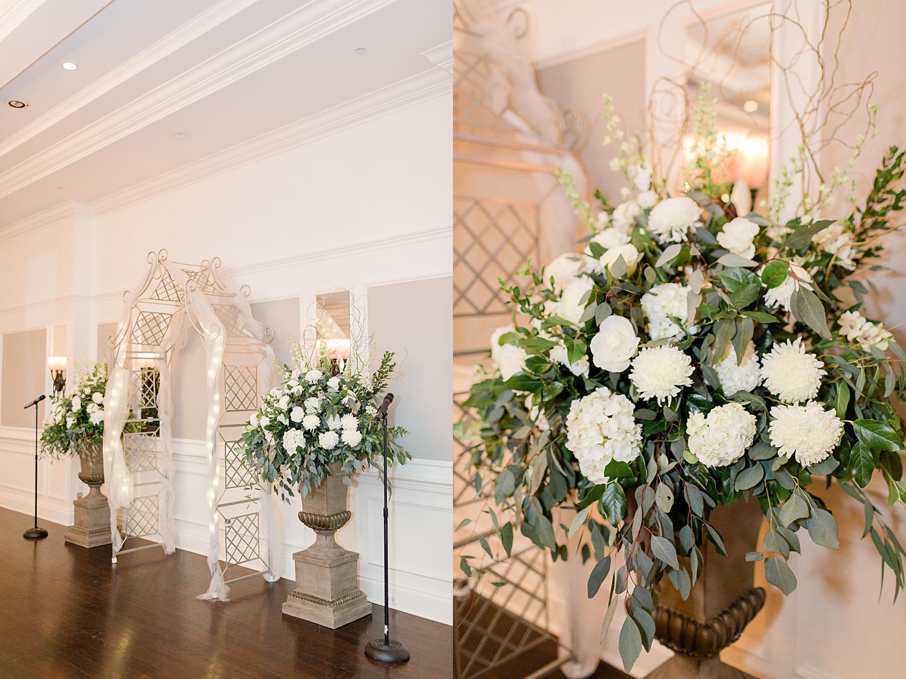Elegant Winter Wedding at French Creek Golf Club | Flowers by Blue Moon Florist