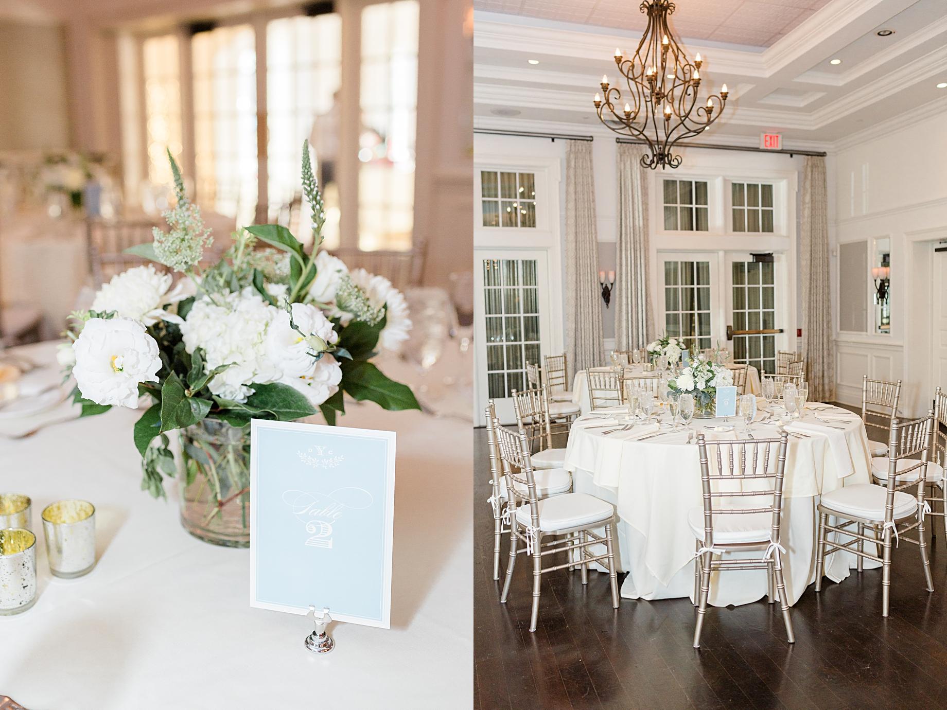 French Creek Golf Club Wedding Reception | Flowers by Blue Moon Florist