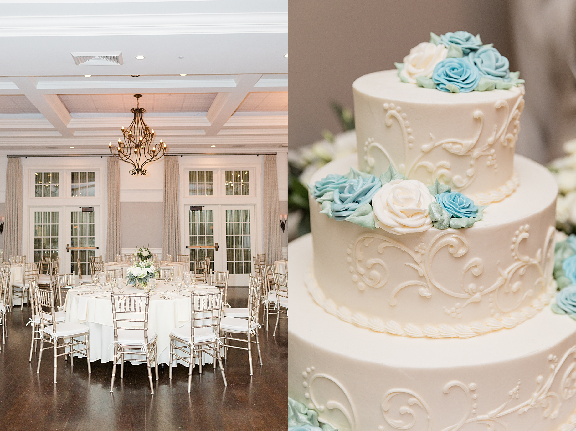 French Creek Golf Club Wedding Reception | Cake by Baker's of Buffington