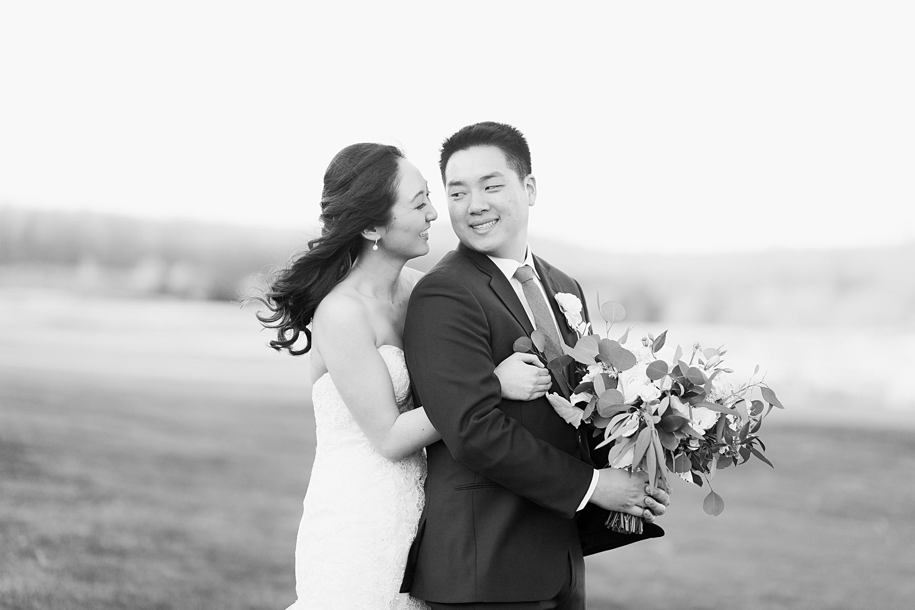 Elegant Winter Wedding at French Creek Golf Club Portraits