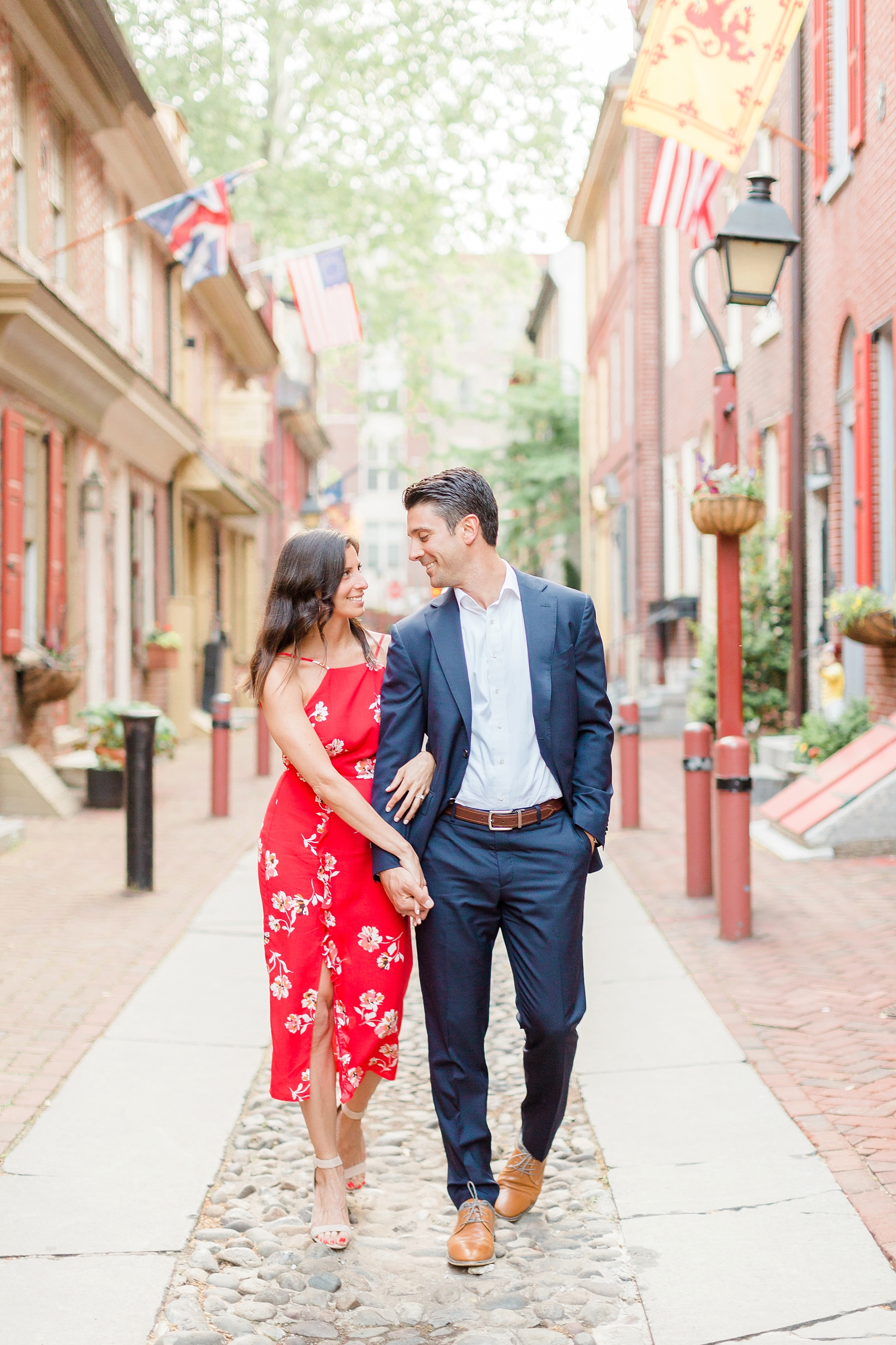 Elfreth's Alley Engagement Session