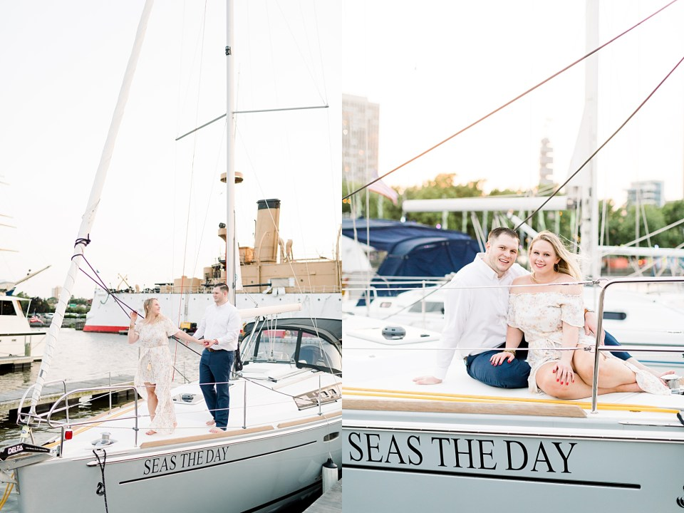 Penn's Landing Pier Engagement Session
