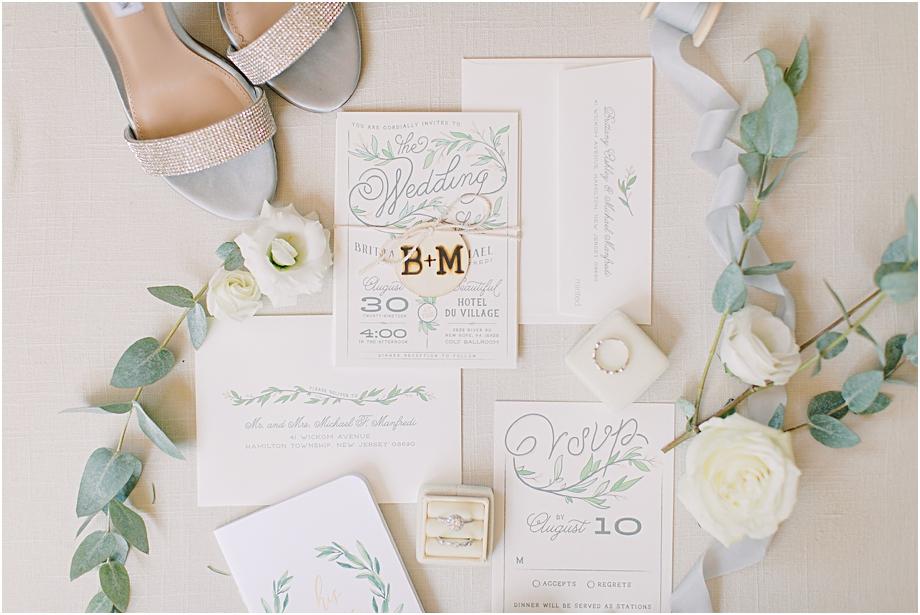 invitation suite | Hotel Du Village Wedding